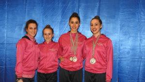 Inizio di stagione con sei medaglie per la Rhythmic School