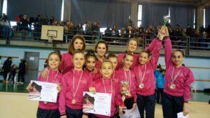 Ginnastica: Le junior della Rhythmic School oro in Serie D