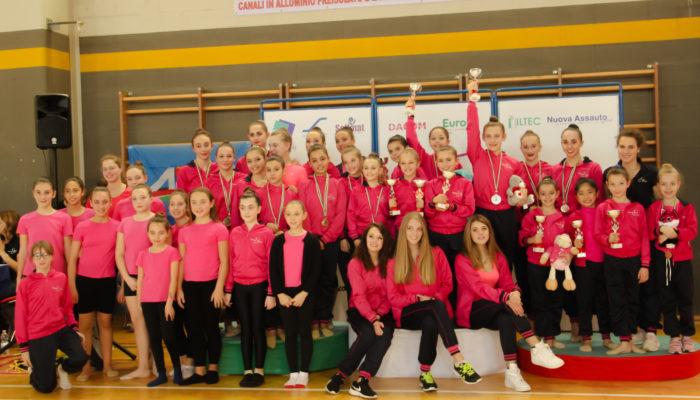 La Scuola di Ginnastica Ritmica di Tatiana Shpilevaya brilla al campionato AICS