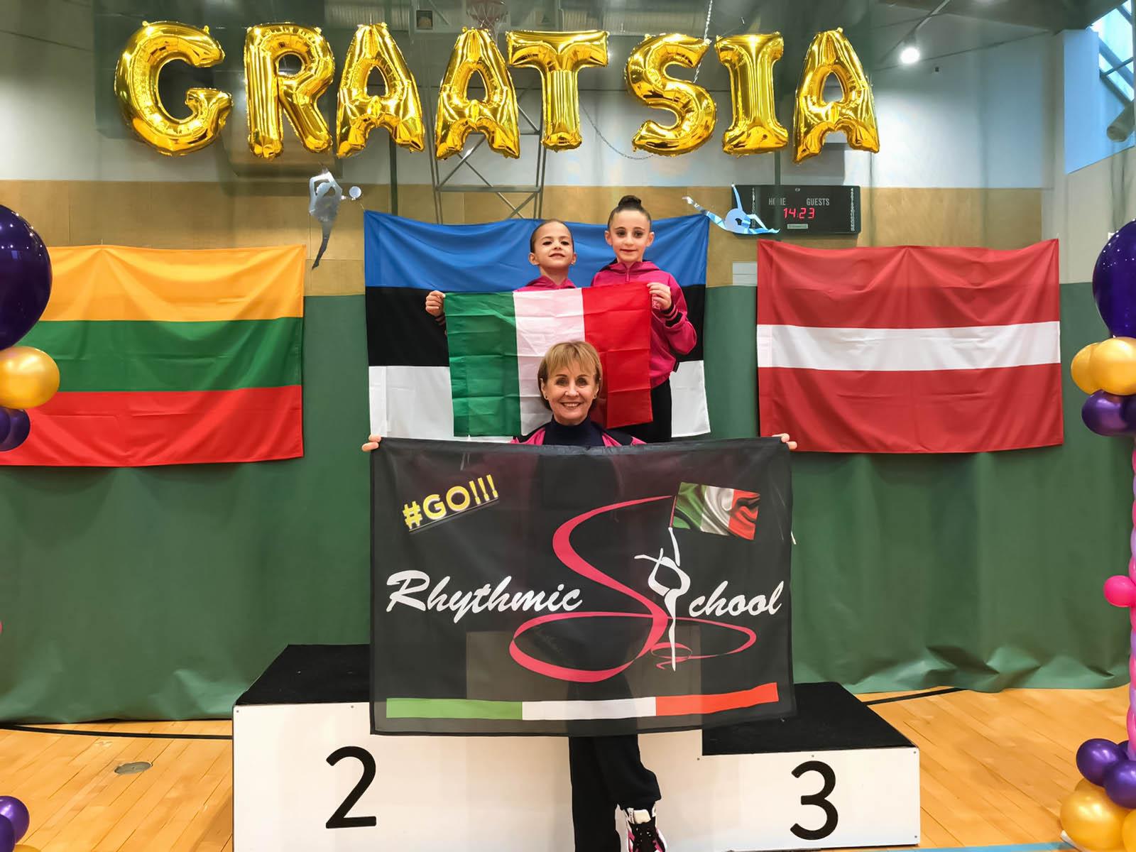 Le RSgirls tornano da Tallin con un oro ed un bronzo