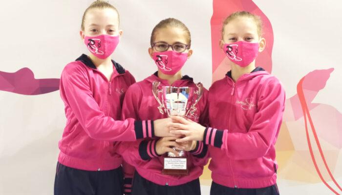 Argento e bronzo per la Rhythmic School nella gara di apertura della nuova stagione agonistica FGI.